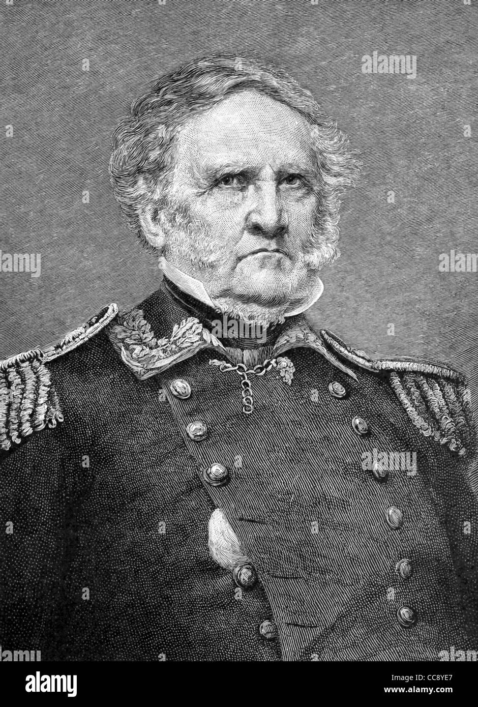 Cette illustration du général Sam Houston (1793-1863) est basé sur une photo de guerre civile nous Photo Stock