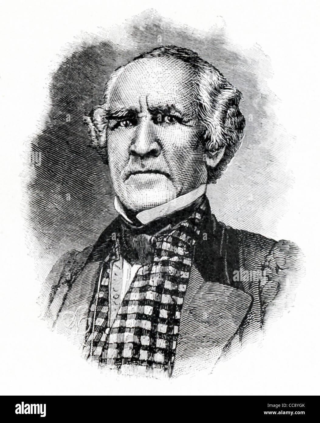 Cette illustration est de général Sam Houston (1793-1863), un héros et un homme d'état frontière Photo Stock
