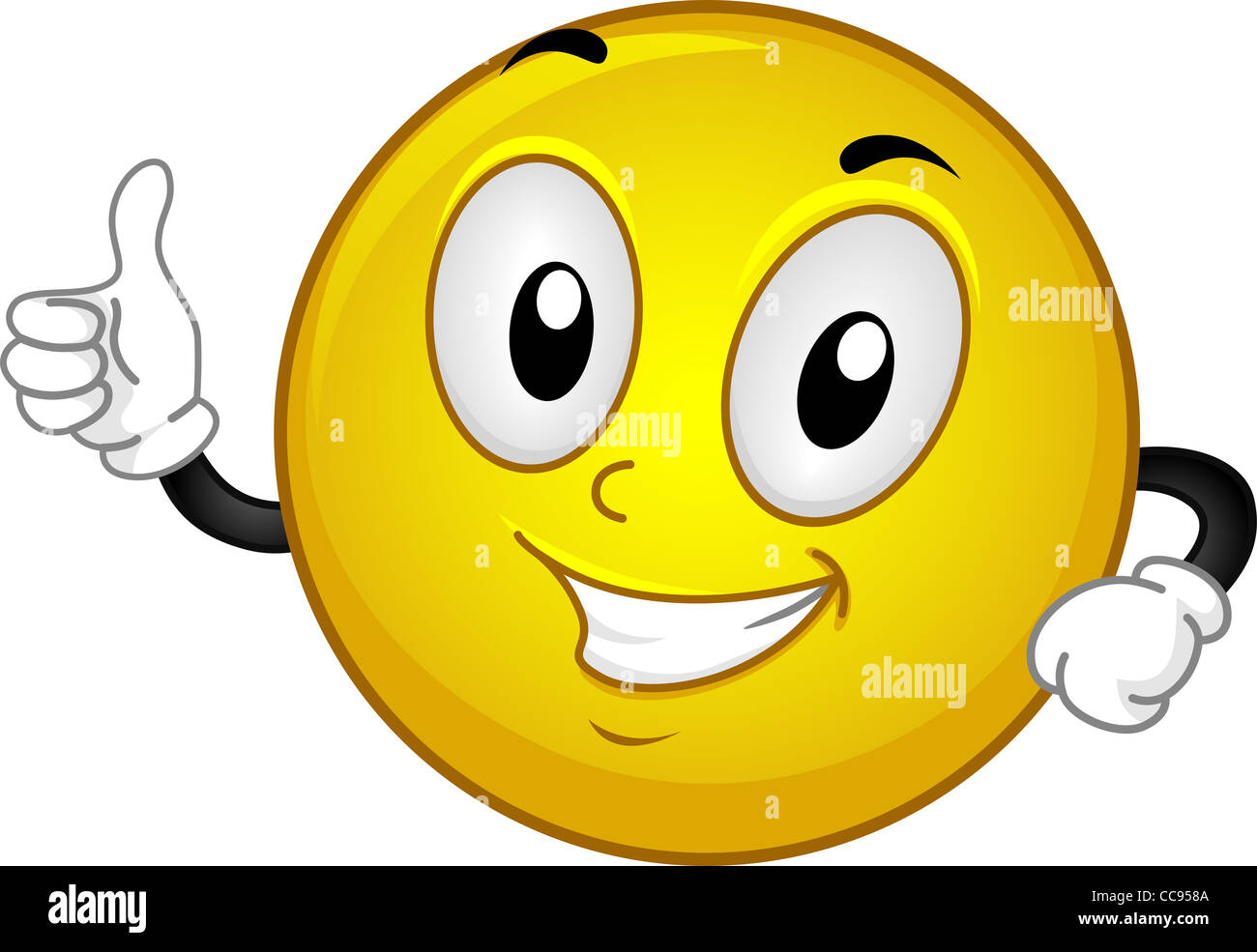 Illustration D Un Smiley En Donnant Un Coup De Pouce Photo Stock Alamy