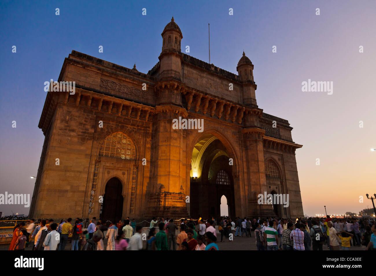 La porte de l'Inde, Mumbai, Bombay Photo Stock