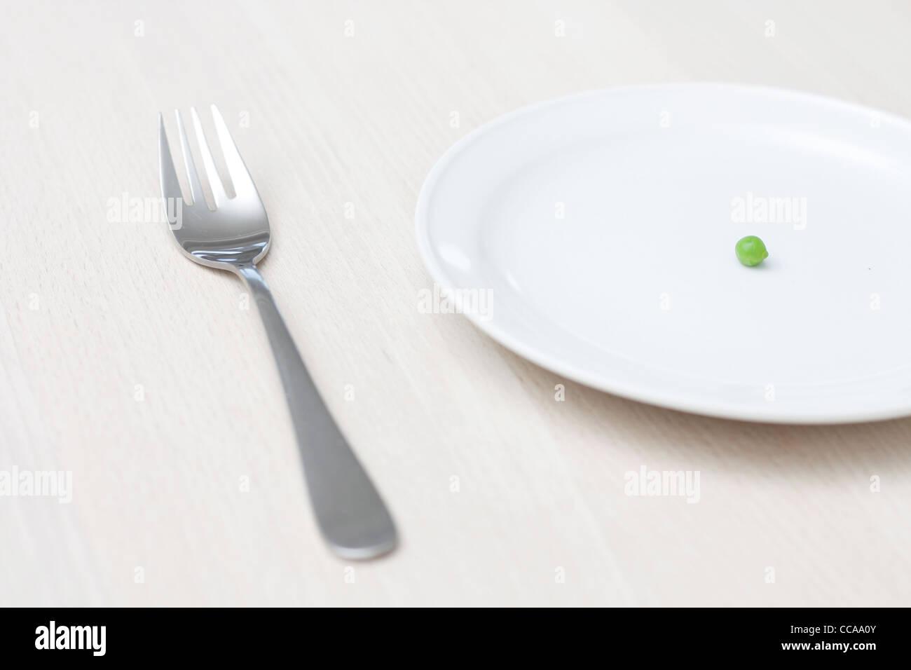 Un seul pea sur une plaque Photo Stock