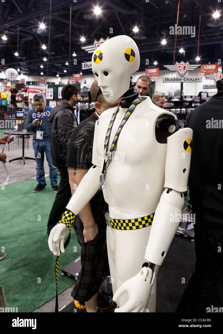 Crash test dummy maquette au SEMA - Las Vegas, Nevada, USA Banque D'Images