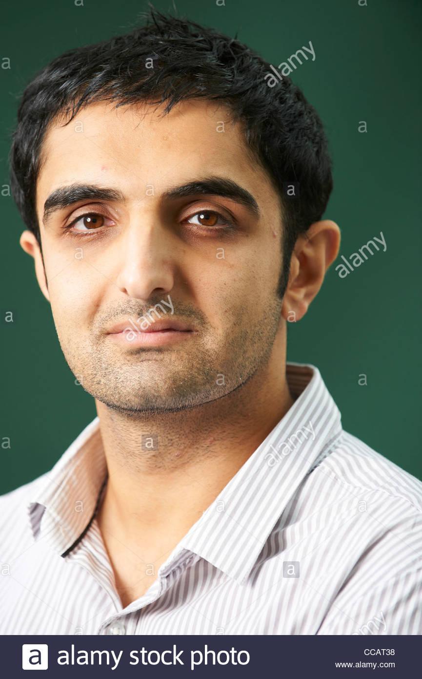 Sunjeev Sahota, romancier et auteur du livre la nôtre sont les rues d'un kamikaze potentiel au Edinburgh Photo Stock
