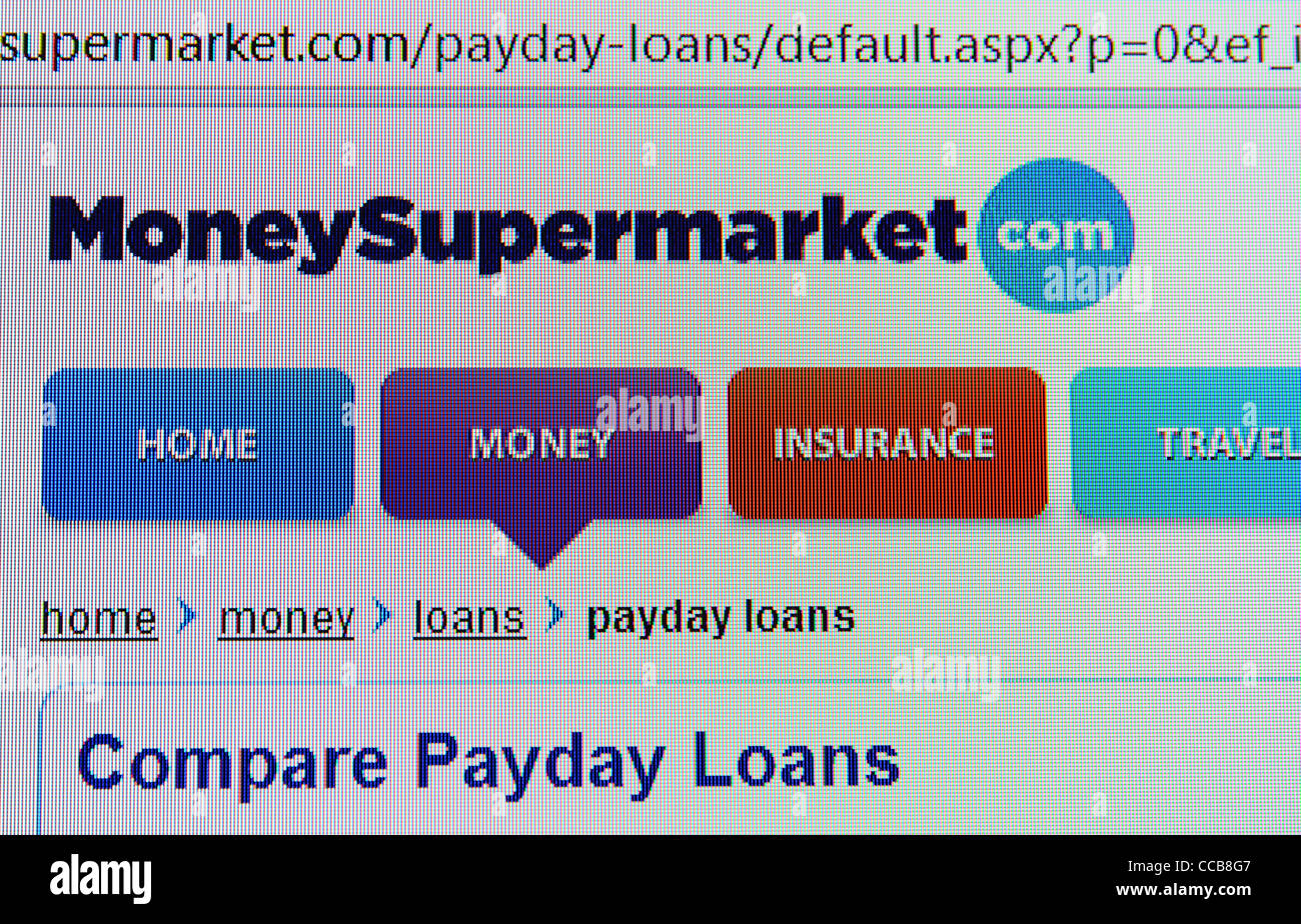 Comparaison de prix moneysupermarket.com site web Photo Stock