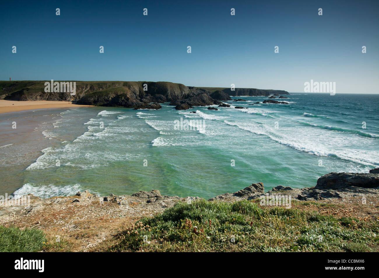 Plage de donnant, Belle-île-en-Mer, Morbihan, Bretagne, France Photo Stock