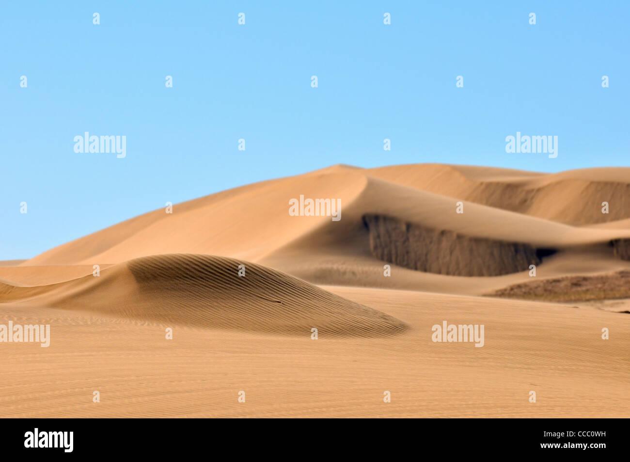 Les ondulations du sable sur les dunes du désert de Namib, Namibie Banque D'Images