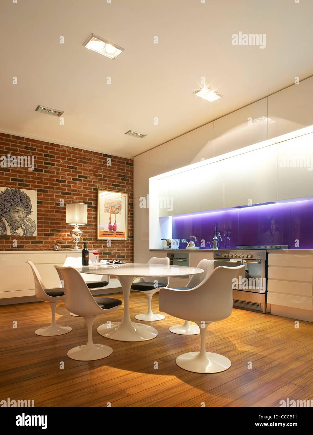 Ambiance maison privée, contrats, Londres 2010, SALLE À MANGER Photo Stock