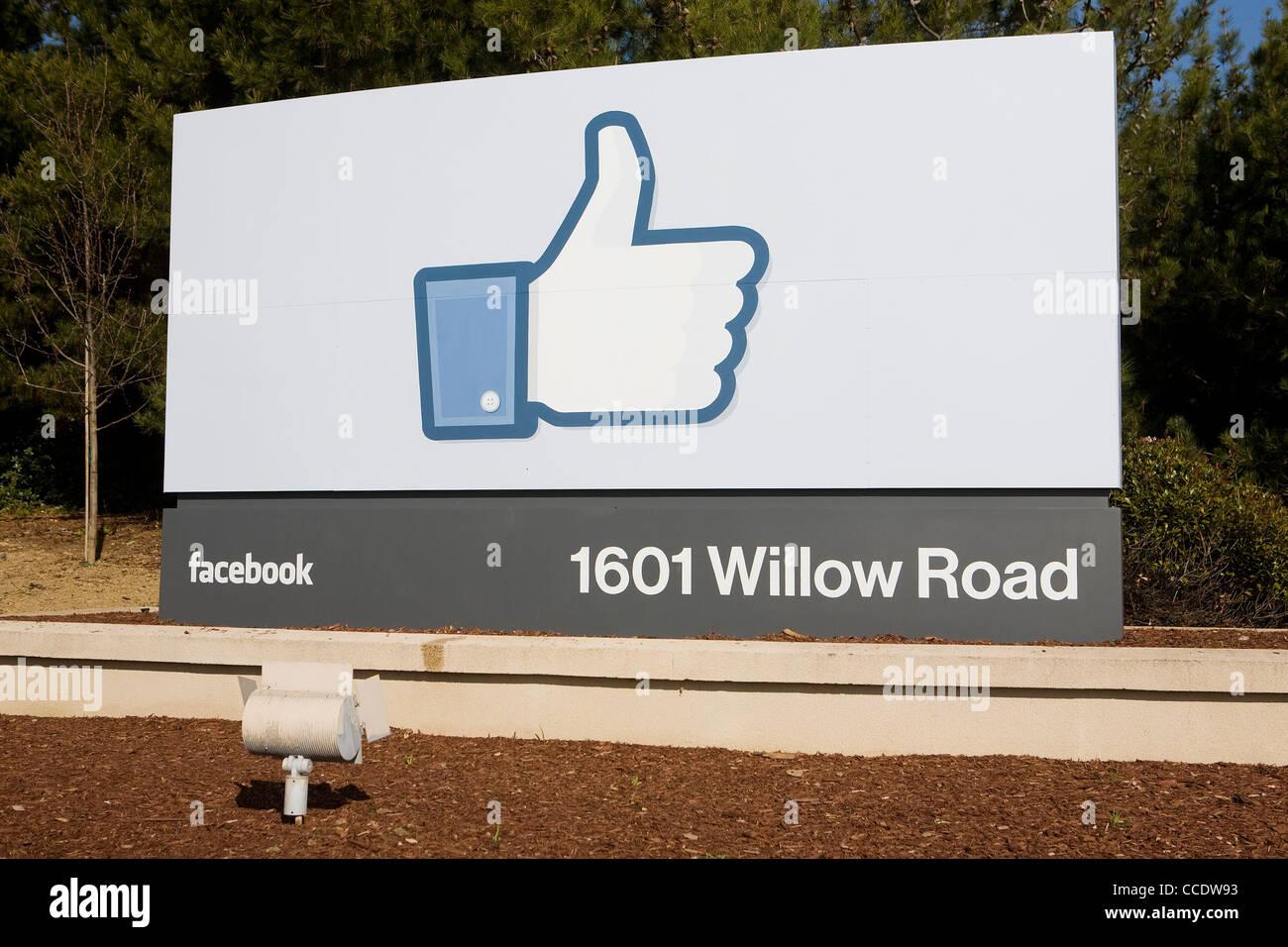 Le siège social de Facebook. Photo Stock