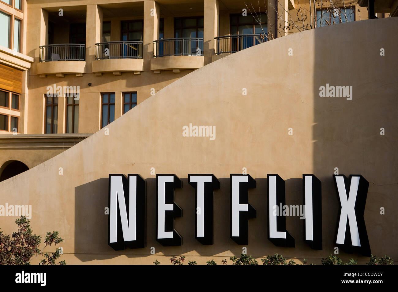 Le siège de Netflix. Photo Stock