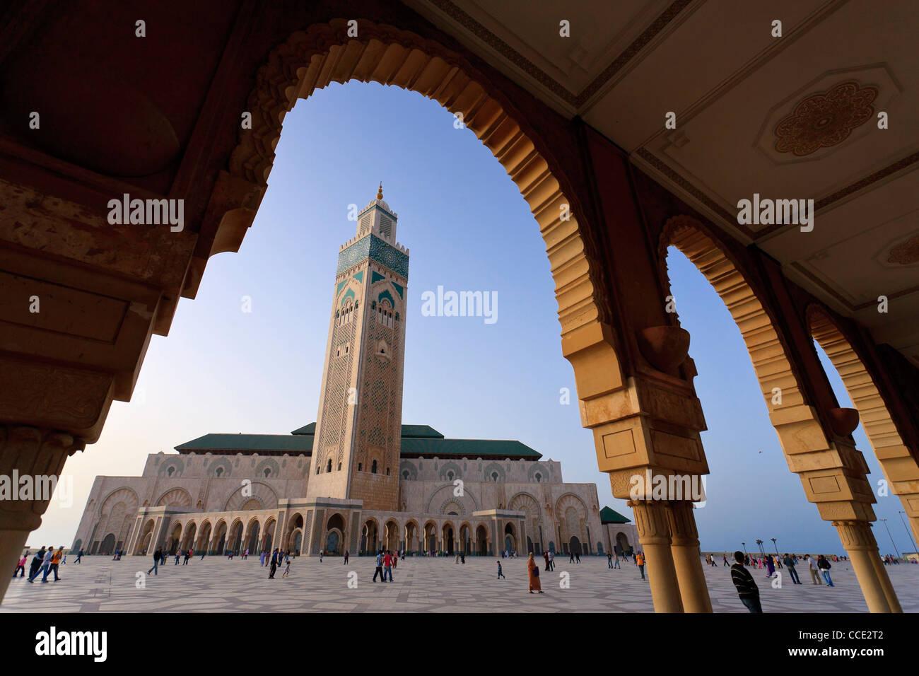Maroc, Casablanca, Mosquée de Hassan II Photo Stock