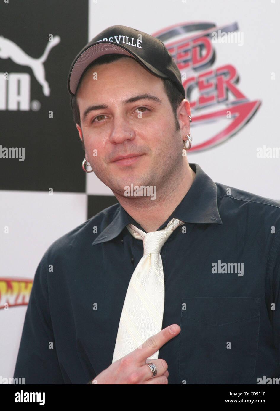 Producteur Jason Gleed au coureur de vitesse Premiere tenue au Nokia Theatre, à Los Angeles. Photo Stock