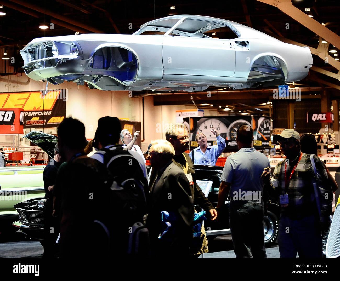 Certaines des nombreuses choses sur l'écran, au cours de la 2008 SEMA Show Las Vegas NV. Nov 6,2008 Photo par Gene Blevins/LA Daily News Banque D'Images