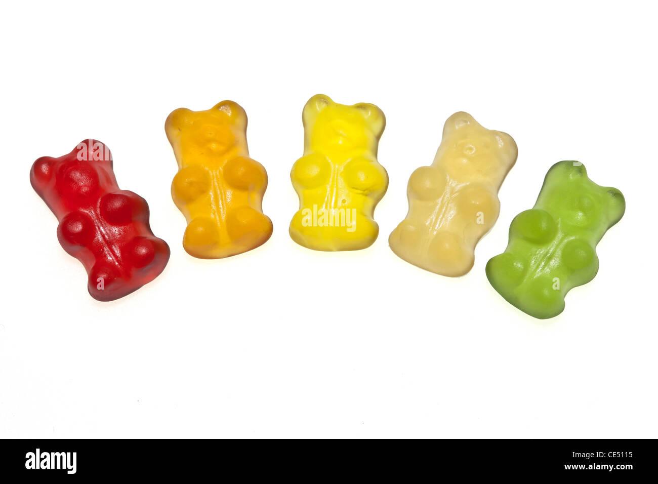 Ours Gummi bio, aromatisé et coloré avec du jus de fruits, Banque D'Images