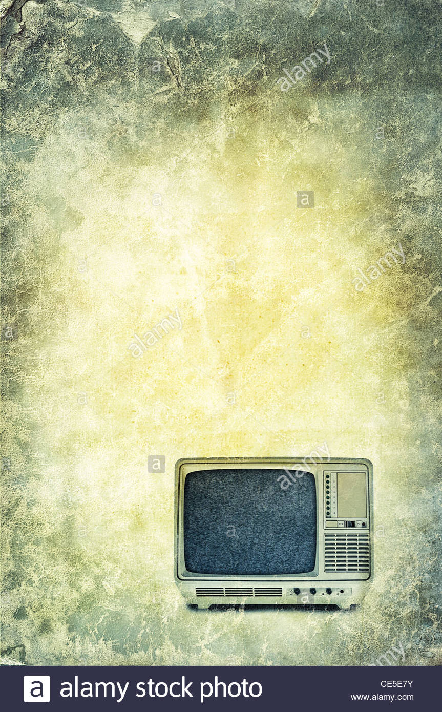 Téléviseur portable à l'ancienne Photo Stock