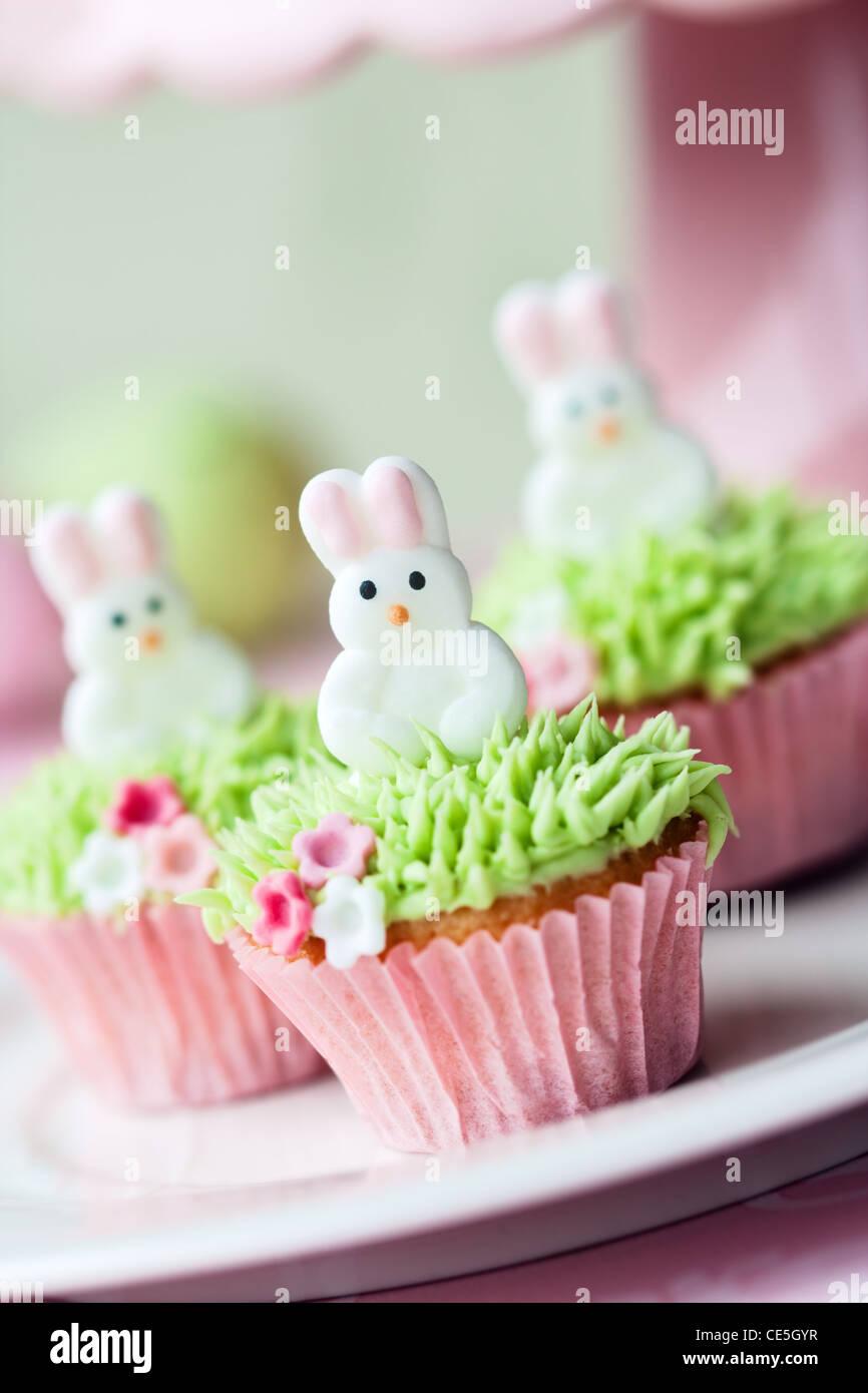 Cupcakes de Pâques Photo Stock