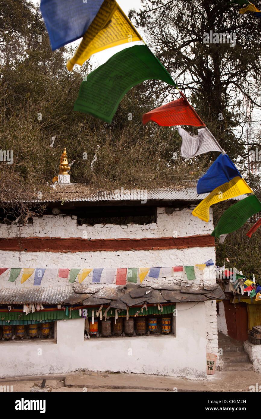 L'Inde, de l'Arunachal Pradesh, Tawang, Thongmen Gompa, éloignées, peu visité monastère Photo Stock
