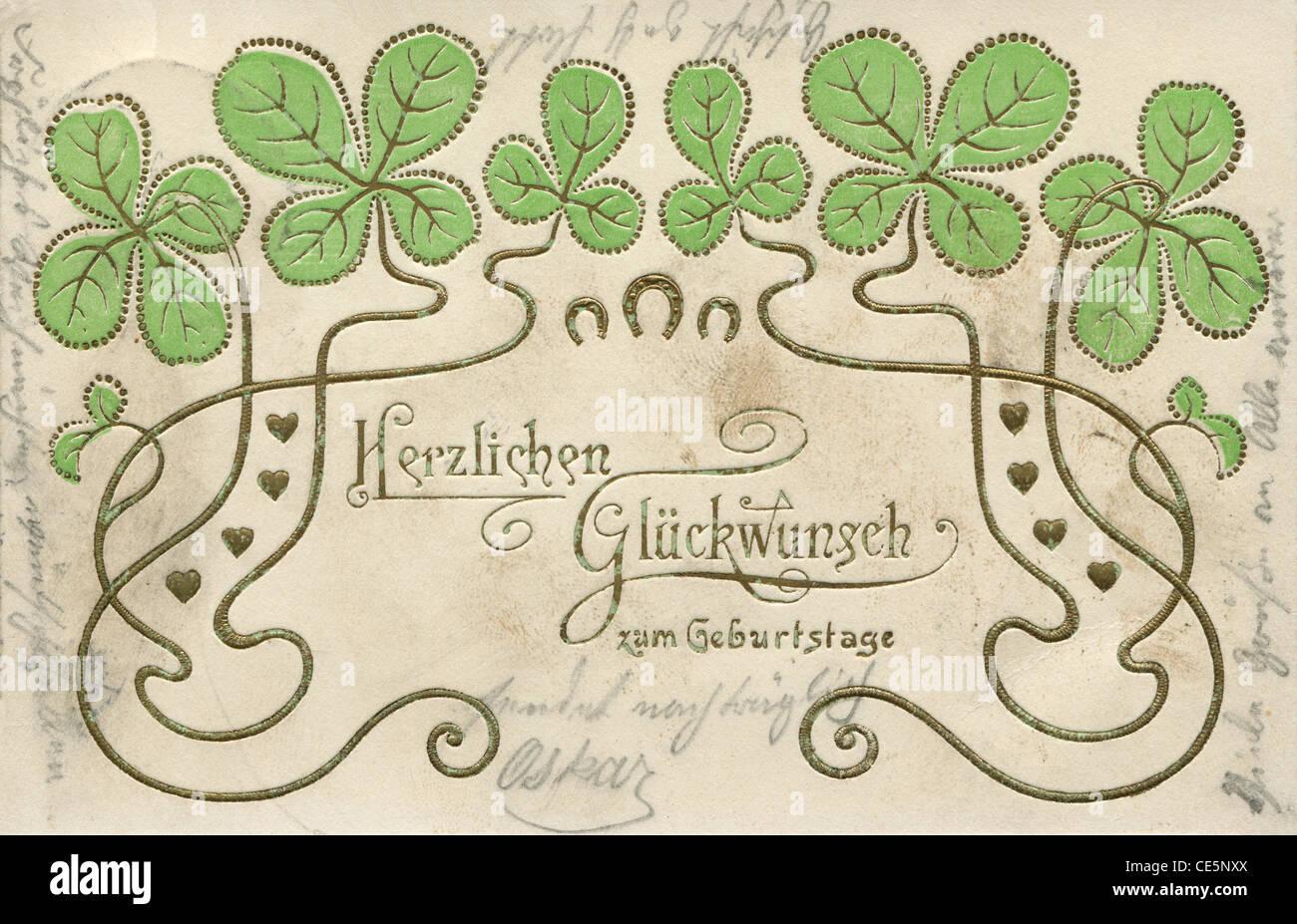 Message Dallemand Carte Postale De Mon Coeur Joyeux Anniversaire