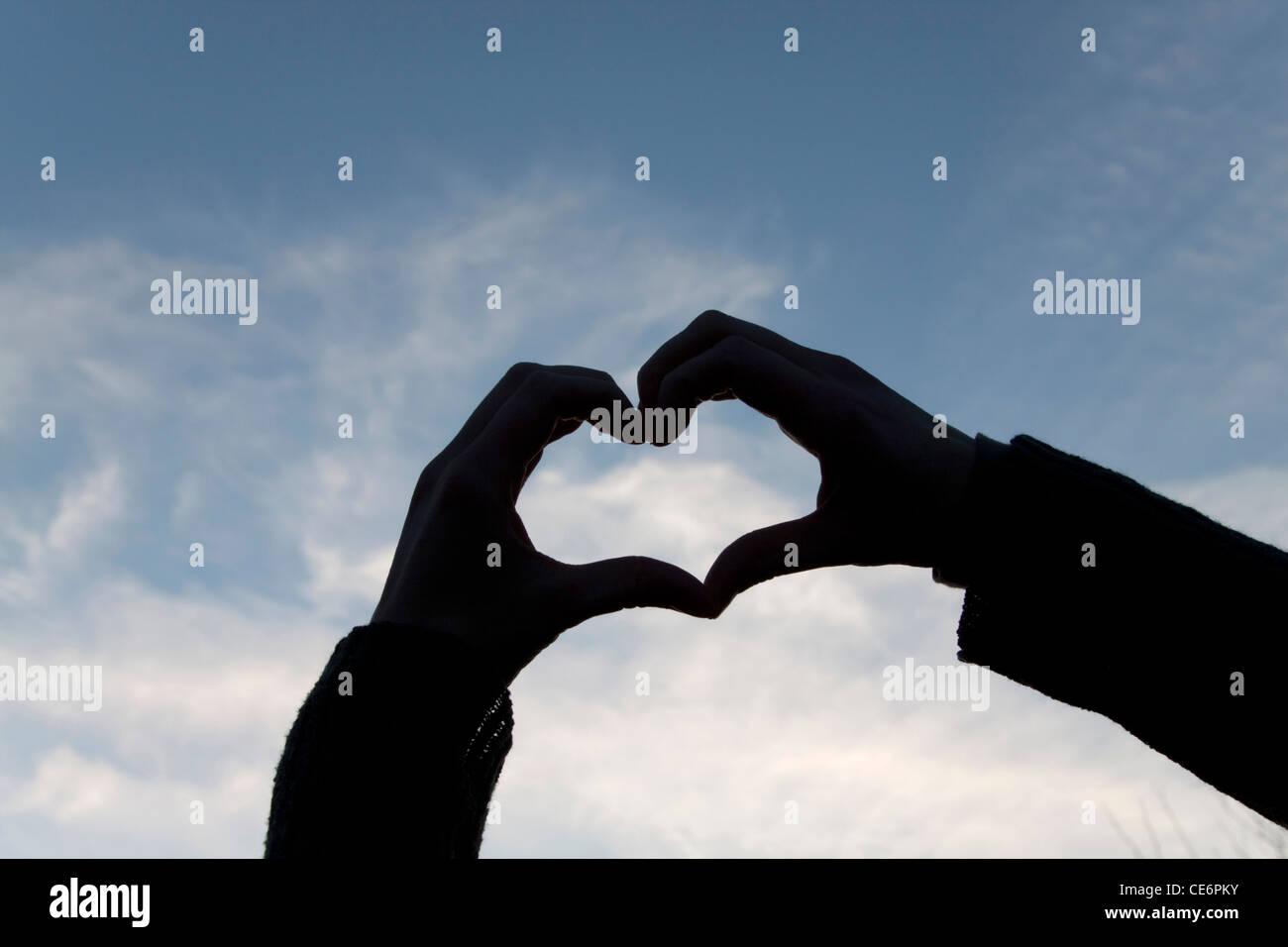 Symbole du coeur Banque D'Images