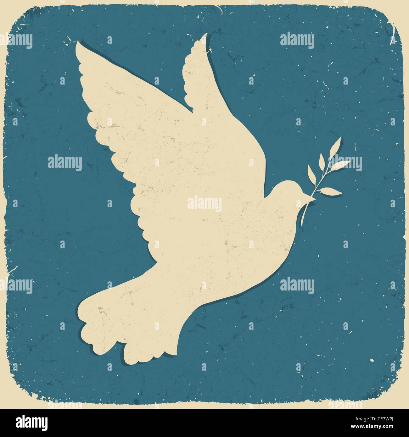 Colombe de la paix. Illustration de style rétro Photo Stock