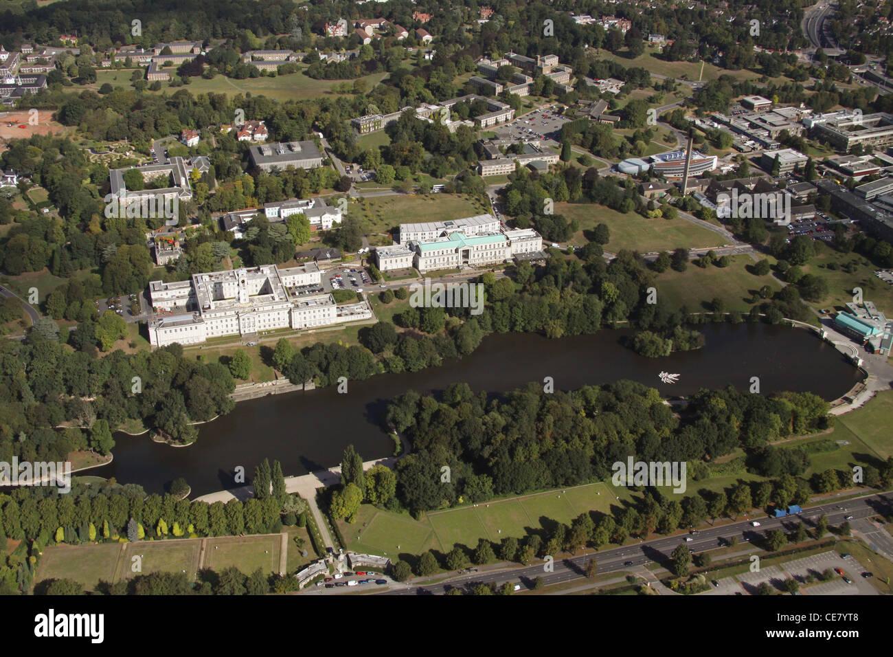 Photo aérienne de l'Université de Nottingham Photo Stock