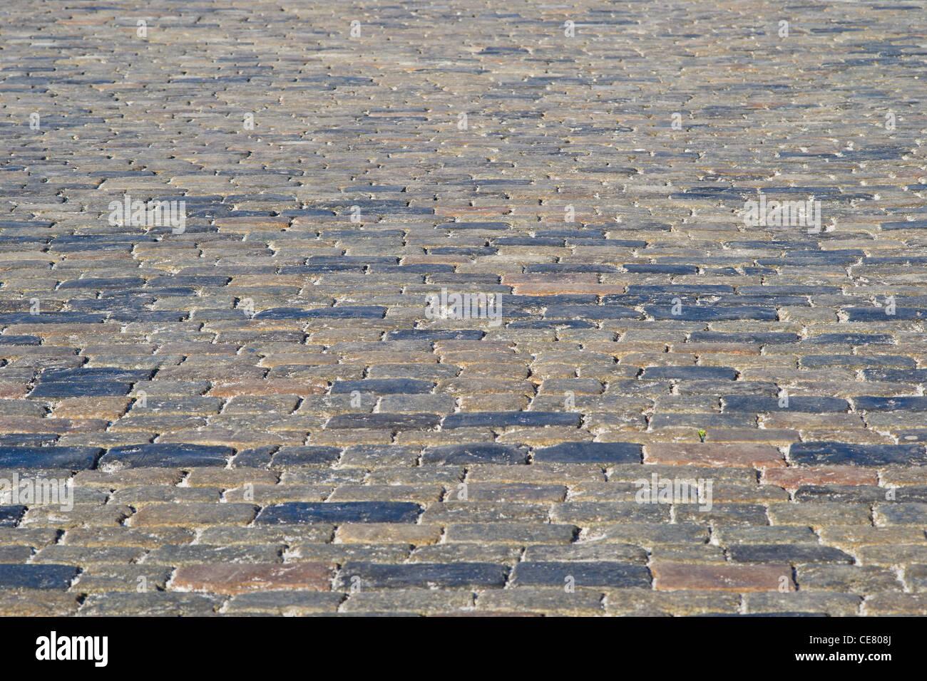 Une chaussée de pierre de la Place Rouge de Moscou, Russie Photo Stock