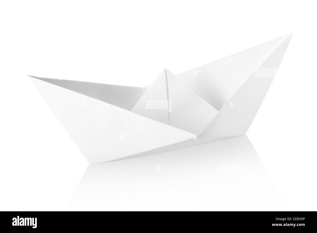 Bateau en papier Photo Stock