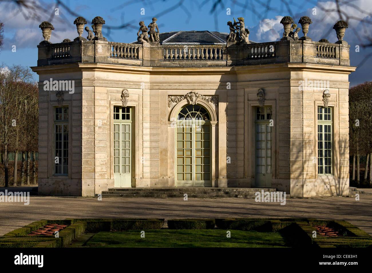 Le pavillon français (construit 1750), le Petit Trianon, Château de Versailles, France Photo Stock