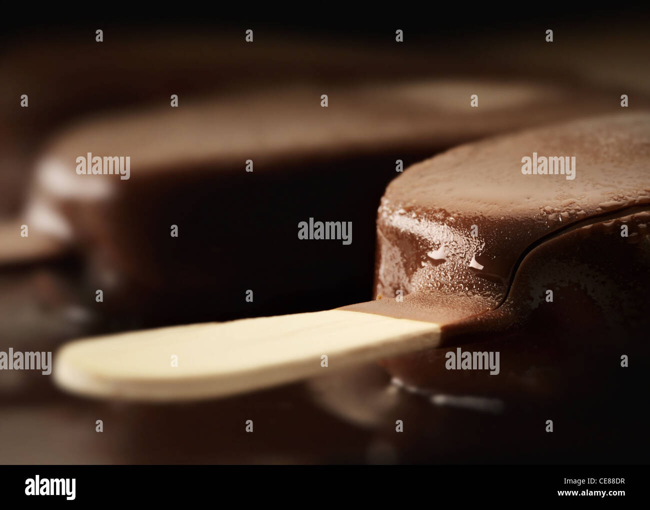 La fonte des glaces Chocolat Crème Close-up Photo Stock