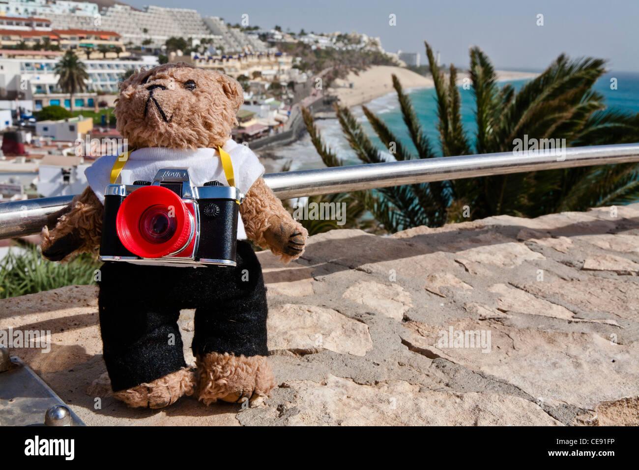 Beni, un ours en peluche à Jandia, Fuerteventura, Espagne Photo Stock