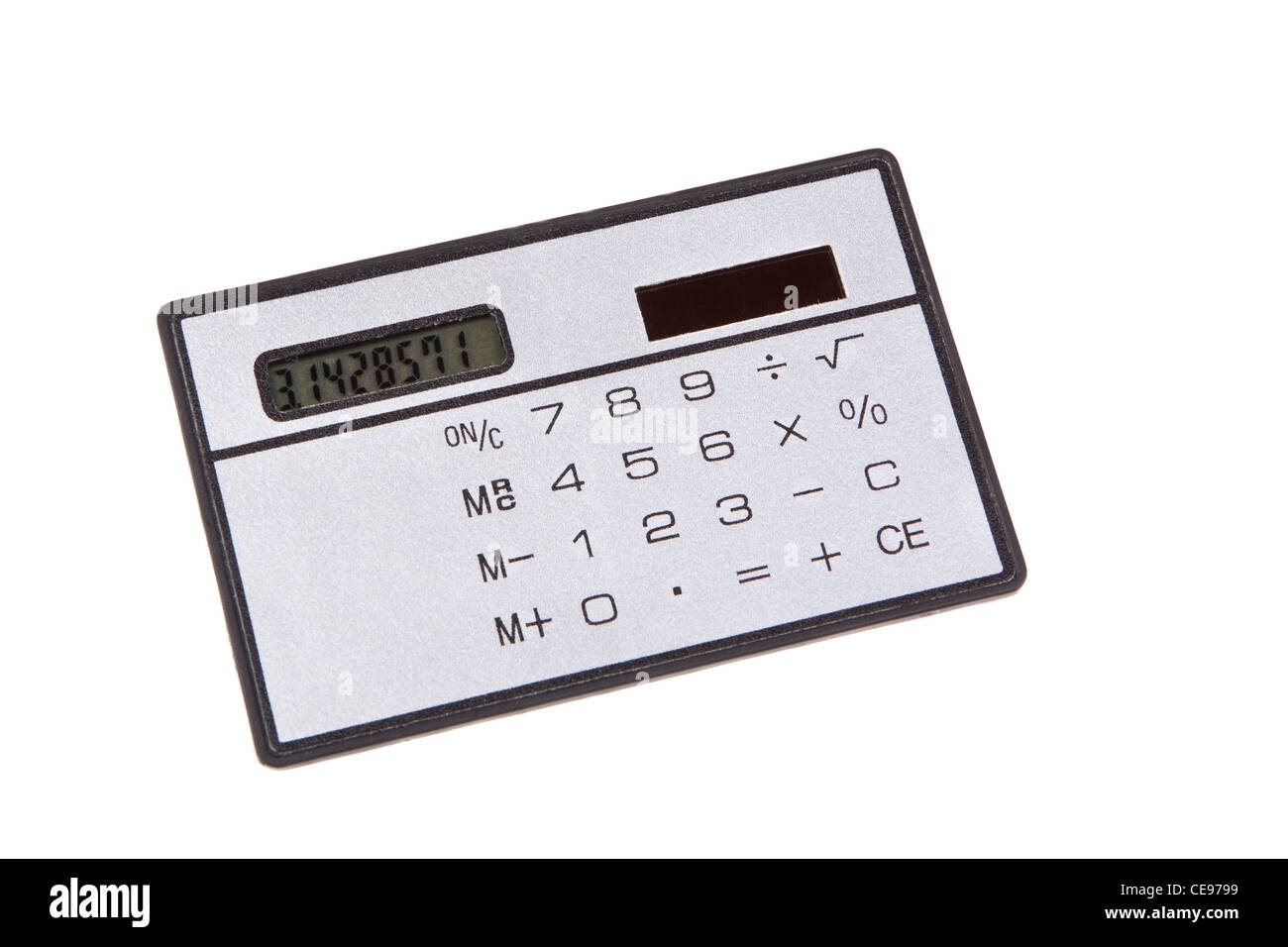 Calculatrice de poche isolated on White Banque D'Images