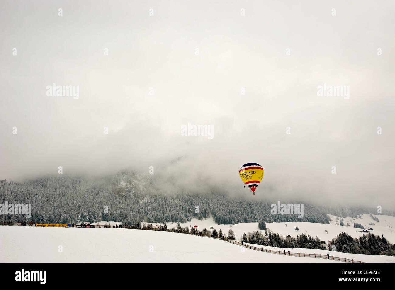 Festival International de Ballons, Château d'Oex, Suisse Banque D'Images