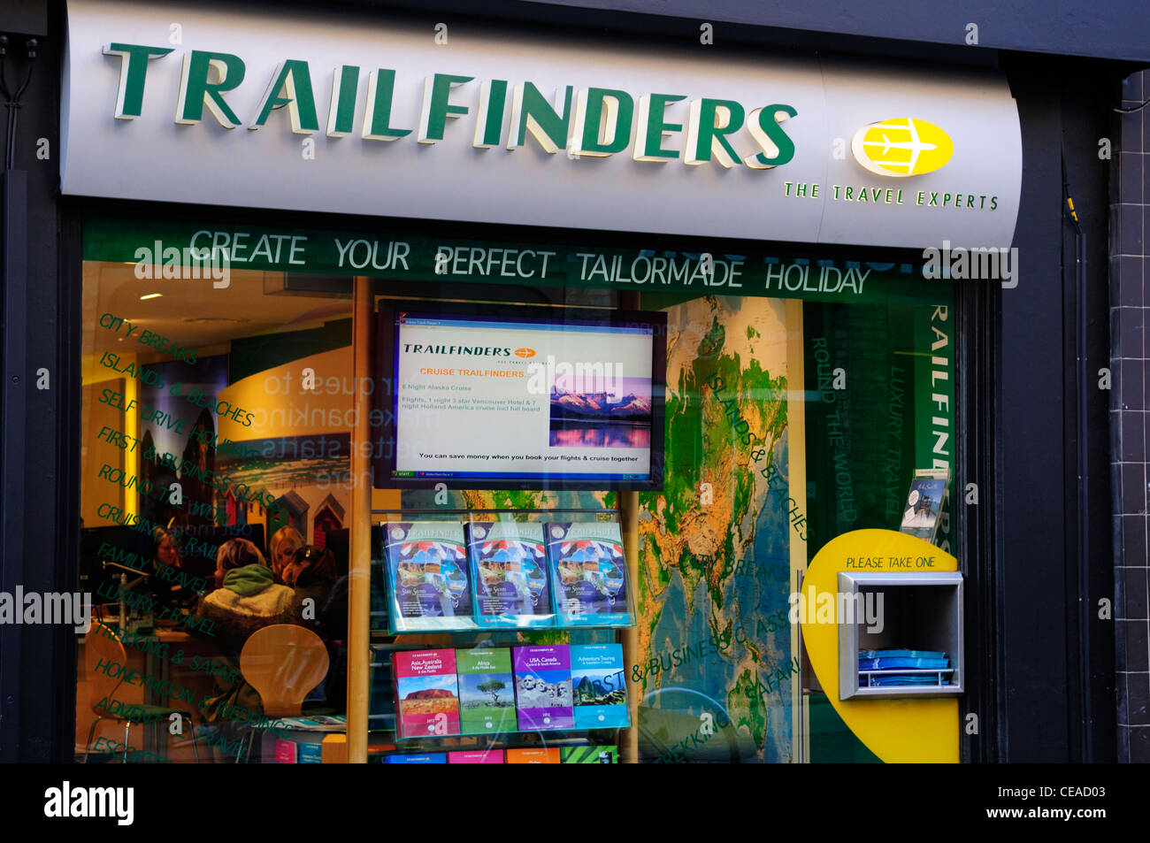 Les experts Voyage Trailfinders, Cambridge, England, UK Photo Stock