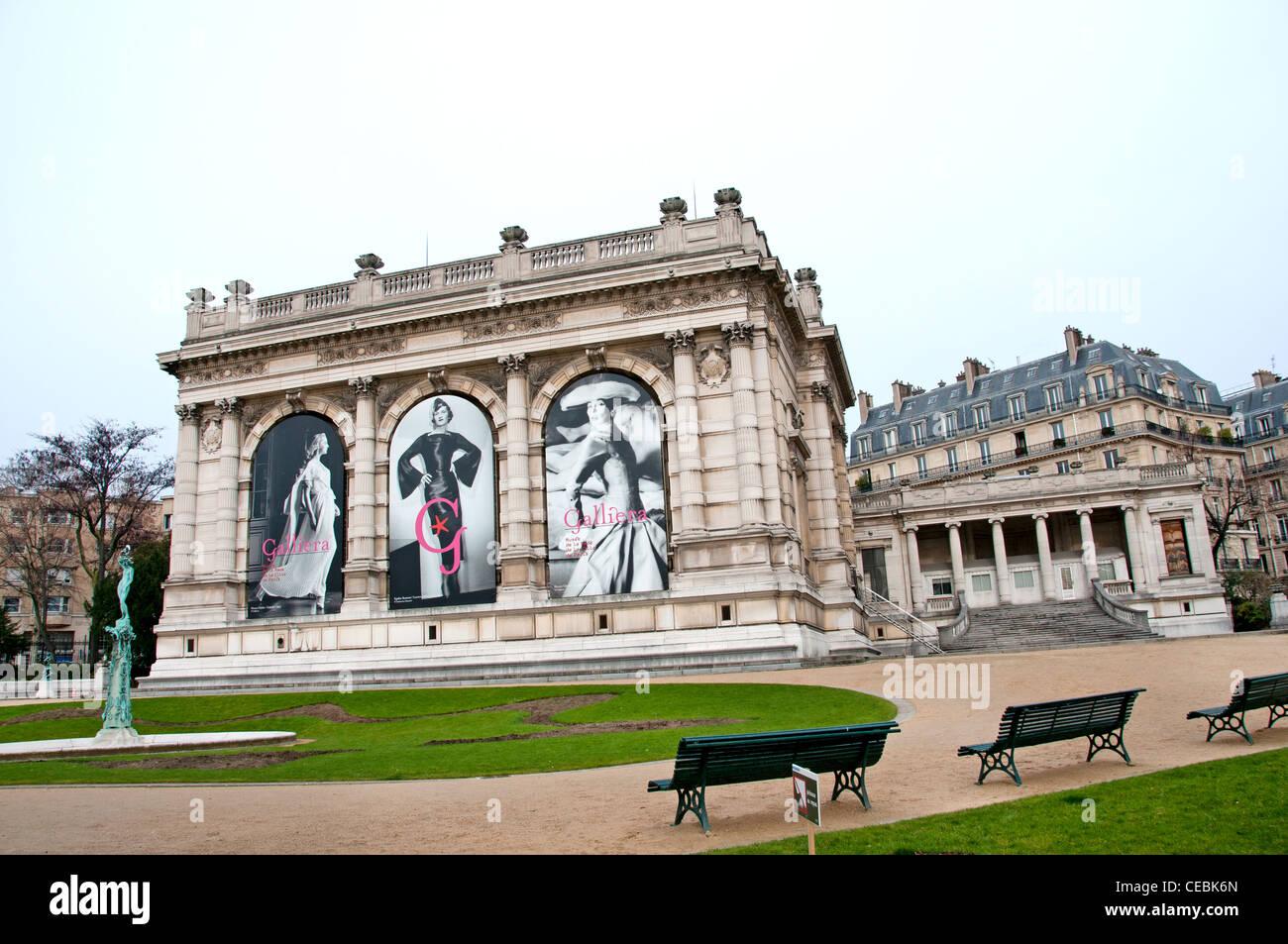 Le Palais Galliera Musée de la mode de la Ville de Paris montre l'histoire de la mode et costume designer Photo Stock