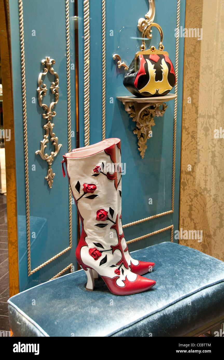Miu Miu Miuccia Prada Paris Rue du Faubourg Saint Honoré France Fashion designer couturier Photo Stock