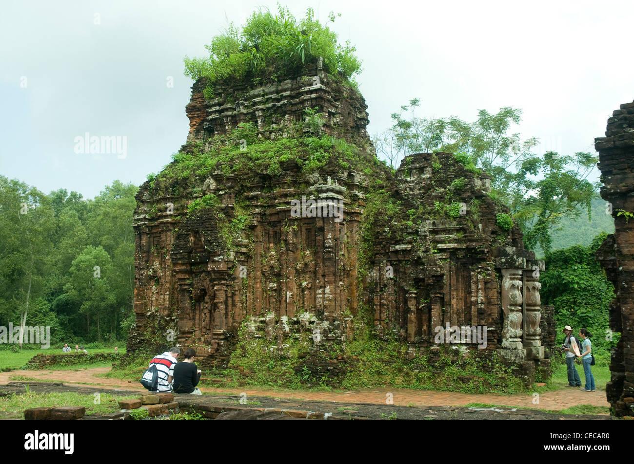 Ruines splendides à mon fils dans le centre du Vietnam sont le patrimoine de la culture Cham datant du 4ème Photo Stock