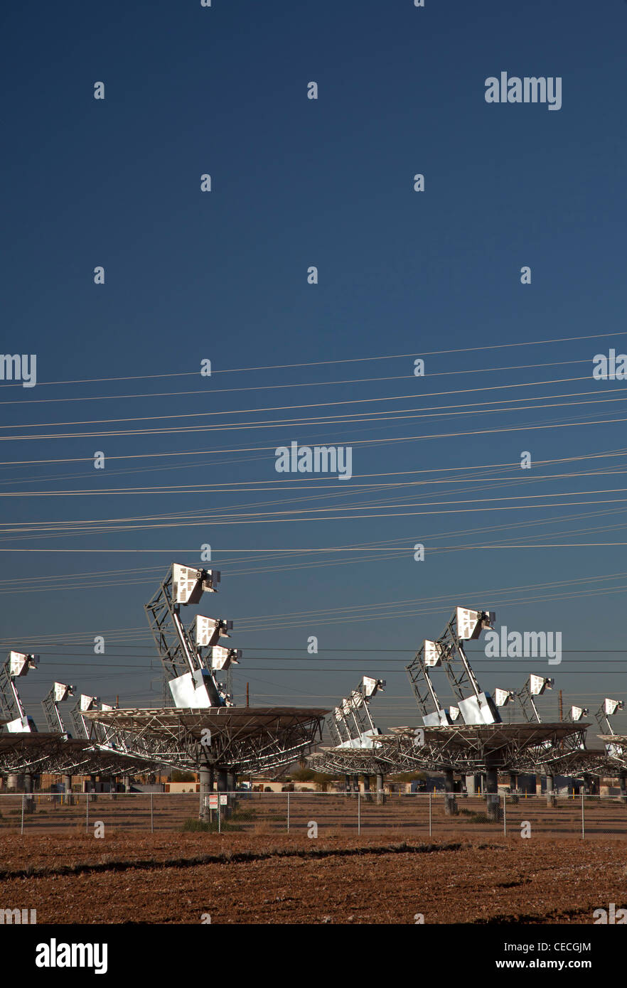 L'usine électrique solaire fermé Photo Stock