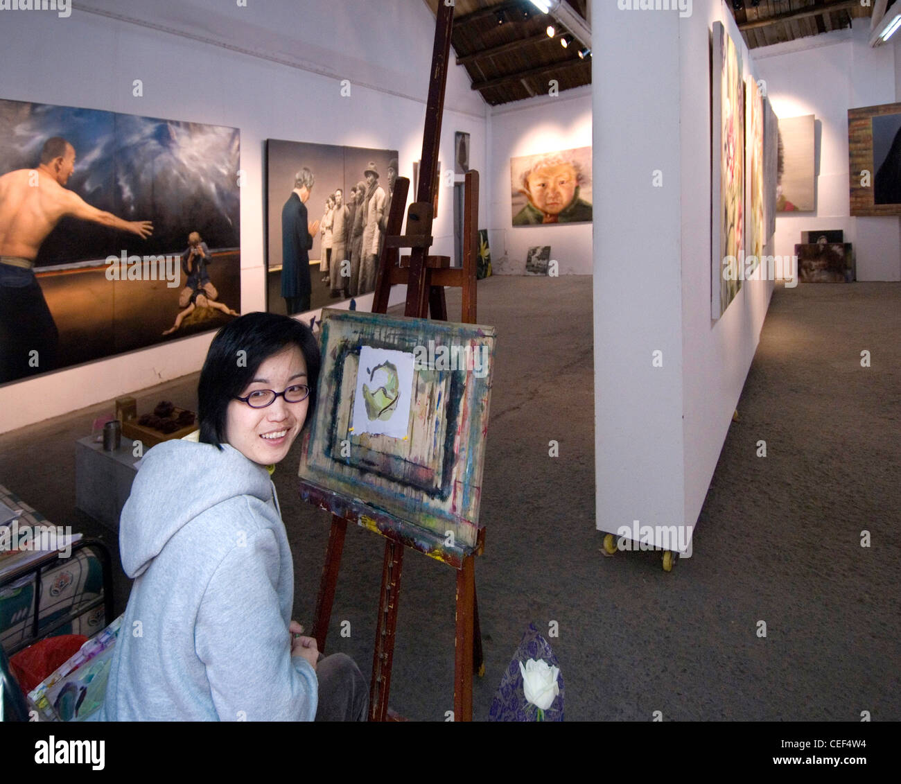 Shanghai M50 Wensan road Art Centre Photo Stock