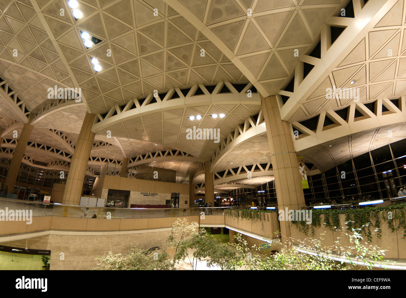 L'aéroport de Riyad en Arabie Saoudite, Photo Stock
