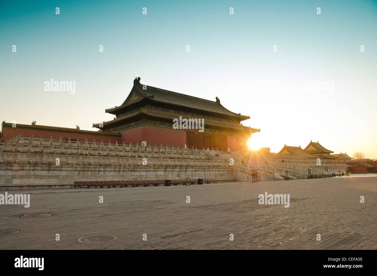 La Cité Interdite (Musée du Palais) à Pékin, Chine Photo Stock