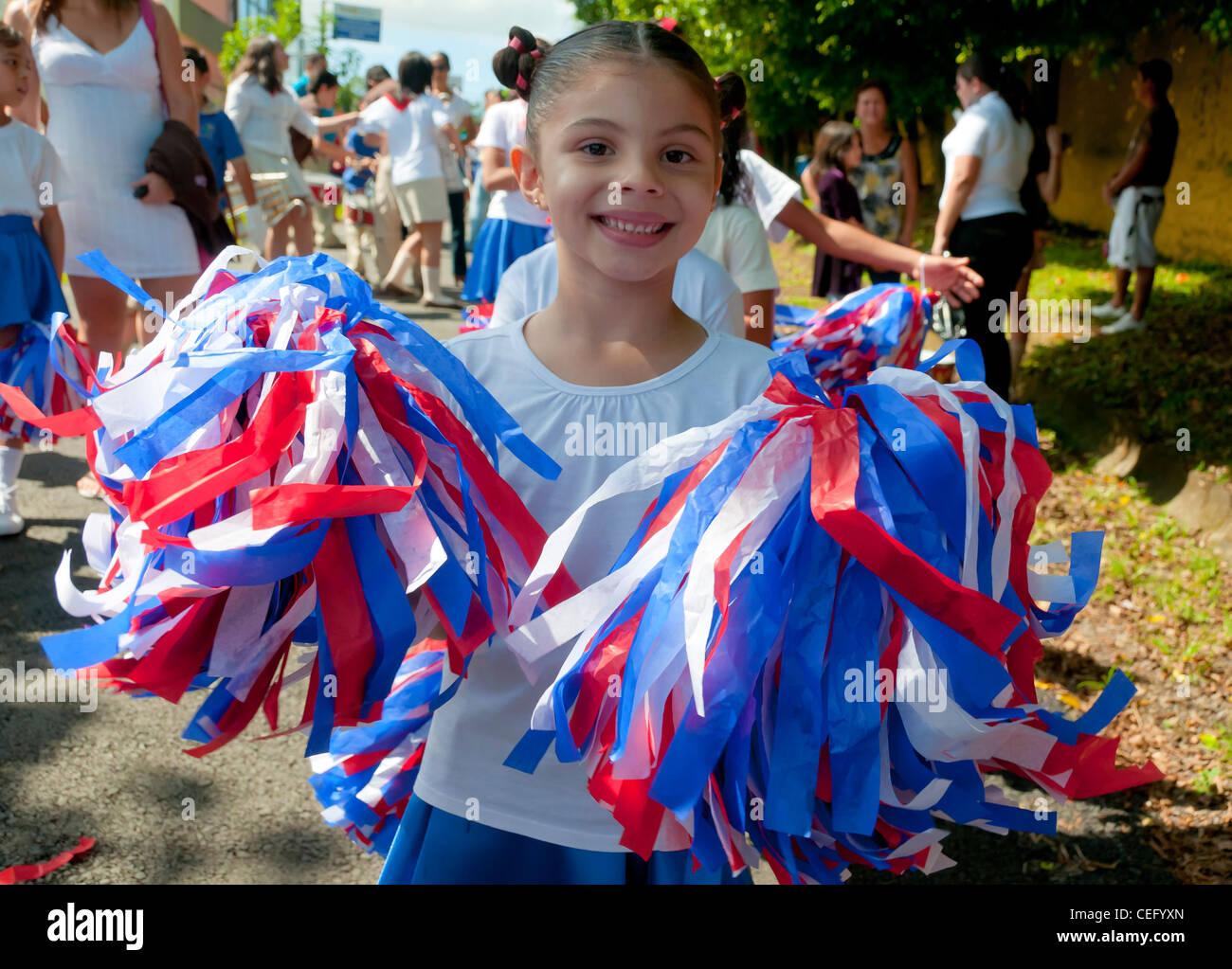 Défilé de jour de l'indépendance de la vallée centrale du Costa Rica Photo Stock