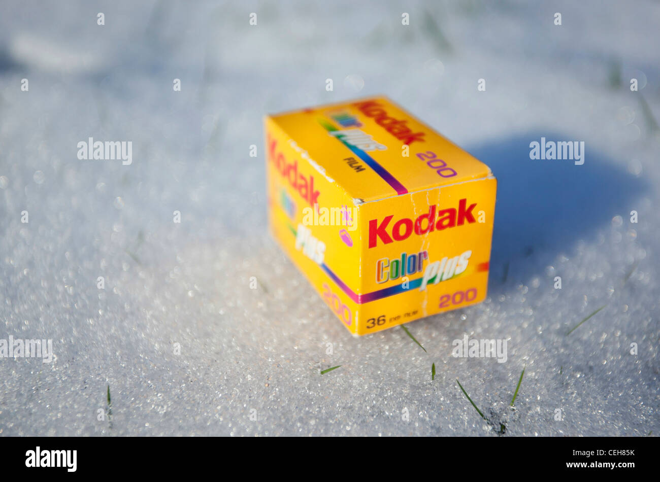 Film Kodak fort sur la neige Photo Stock