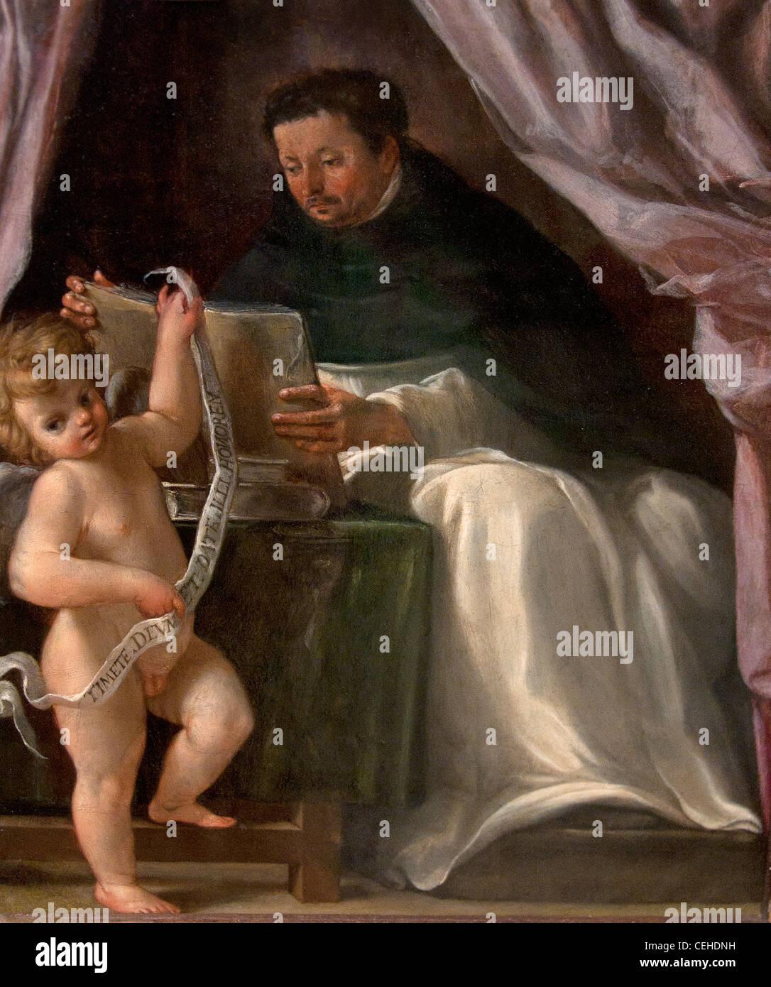 Saint Vincent Ferrier Bologne XVII siecle prédicateur de l'ordre des Dominicains Italie Italien Photo Stock