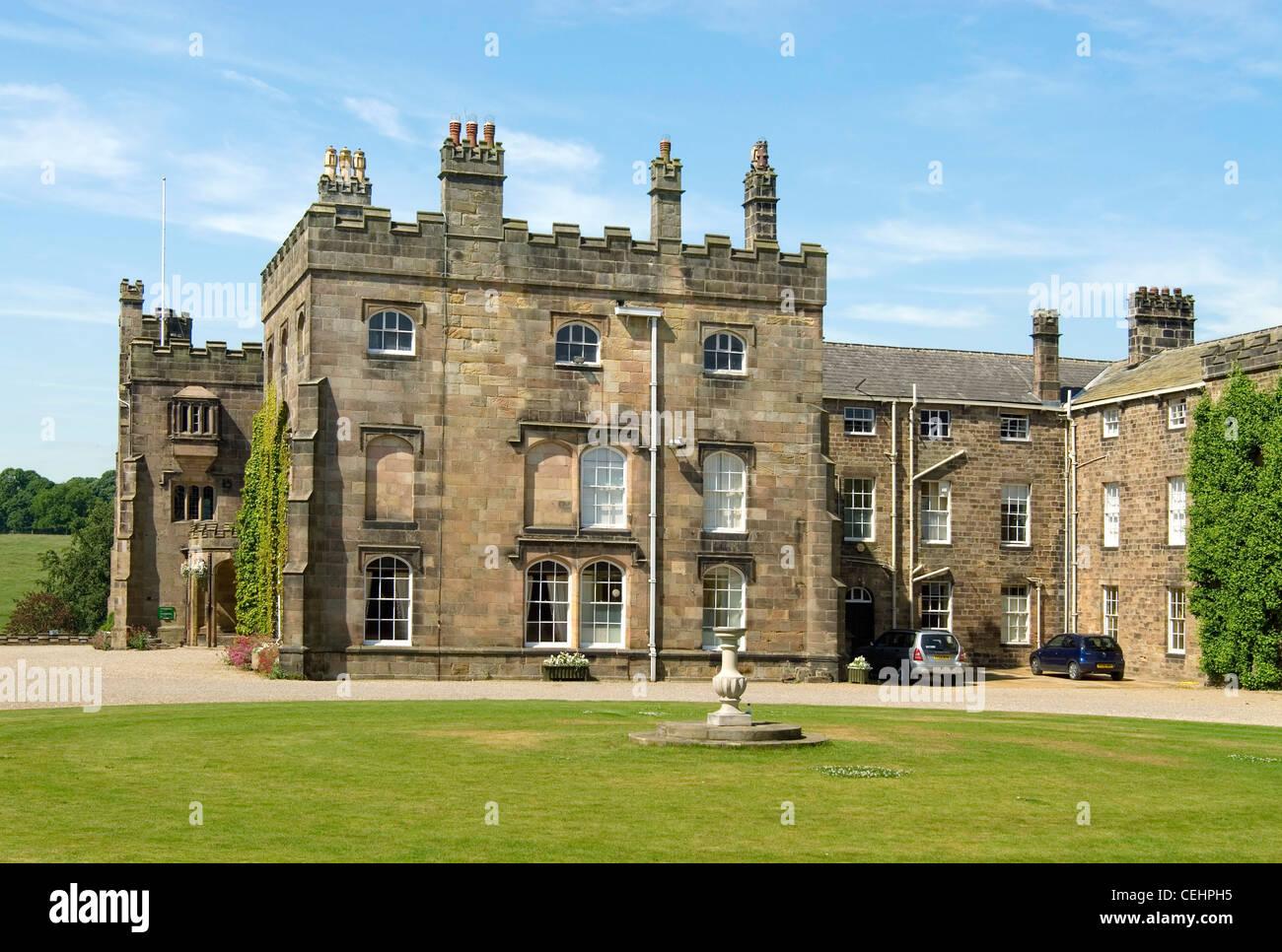 Ripley Castle, datant du 15ème siècle, qui a été le foyer de la famille Ingilby pendant 700 Photo Stock