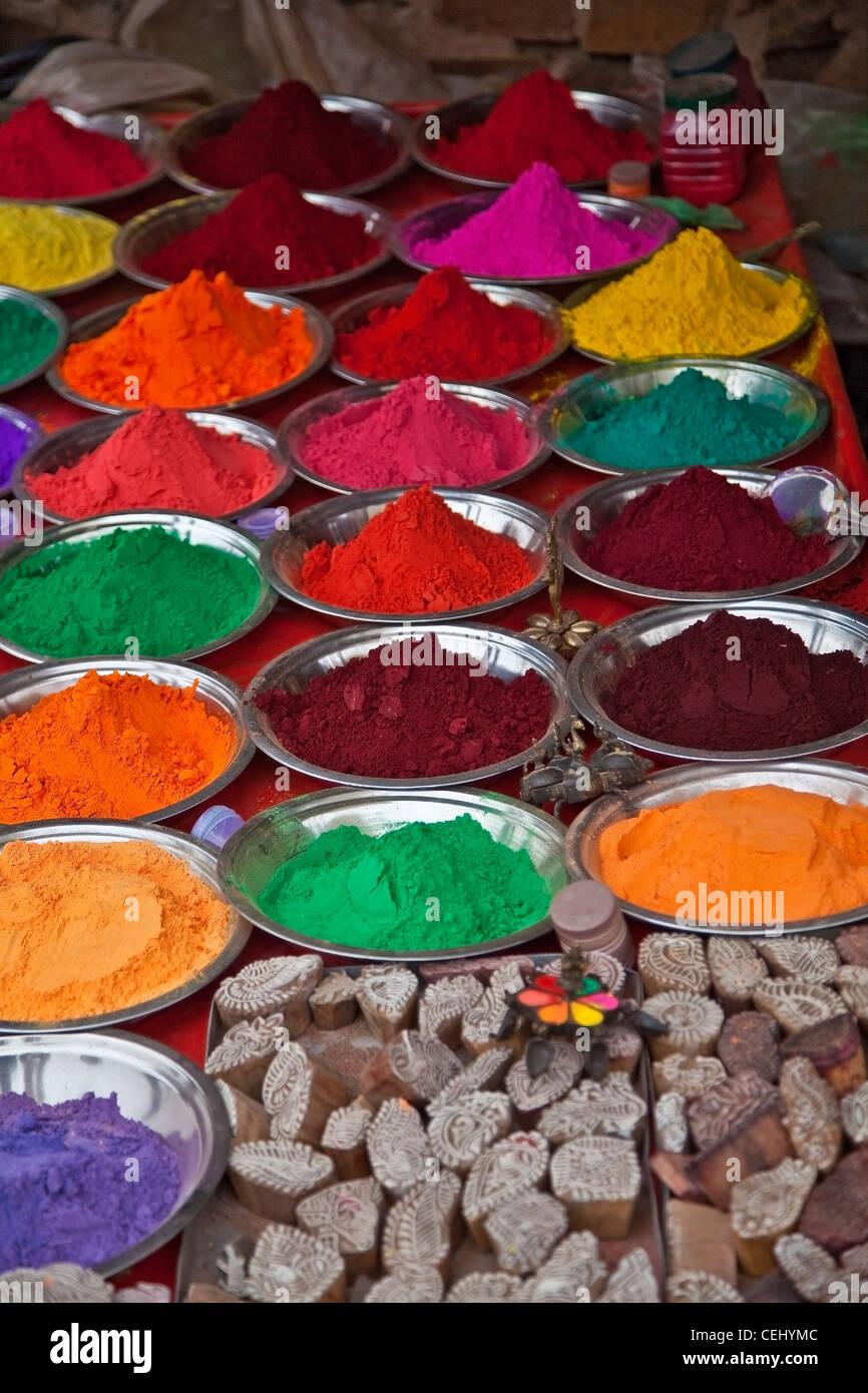 Les couleurs de l'Inde dans le marché Photo Stock
