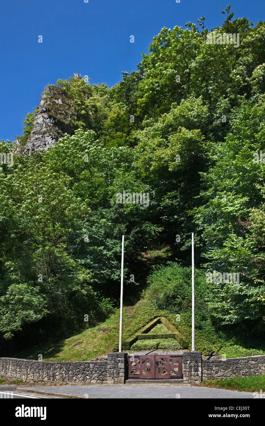 Mémorial pour le Roi Albert I qui sont morts dans un accident d'Alpinisme Escalade en solo à Marche Photo Stock