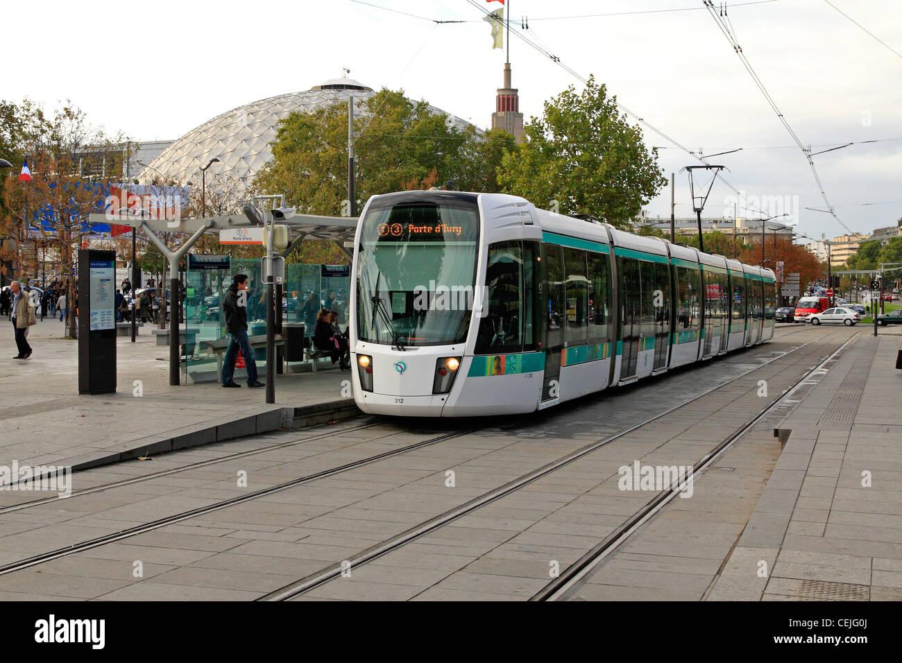 Tramway ligne 3 paris porte de versailles banque d 39 images photo stock 43433618 alamy - Adresse porte de versailles ...