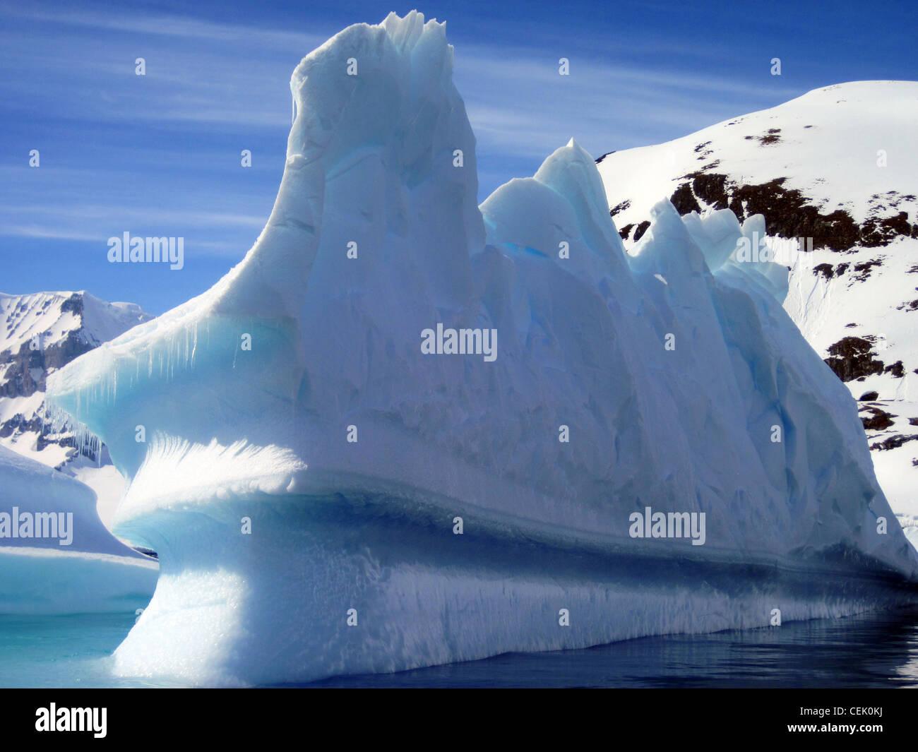 Iceberg en Antarctique Banque D'Images