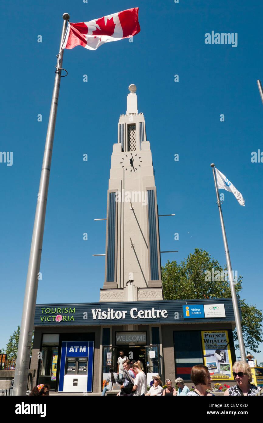 Visitor Centre à Victoria, sur l'île de Vancouver au Canada Photo Stock