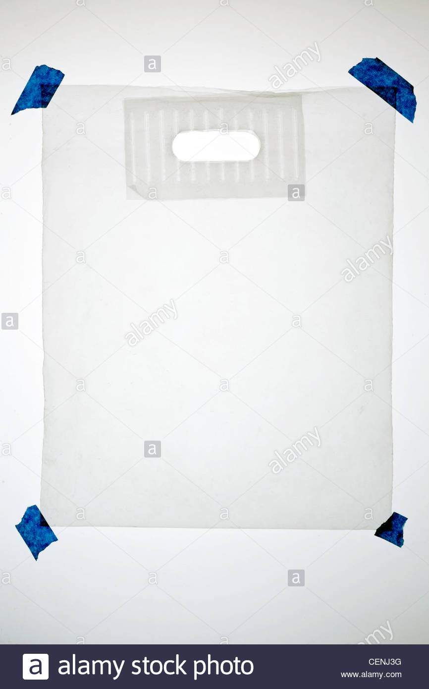 Sac de transport en plastique translucide épais Photo Stock
