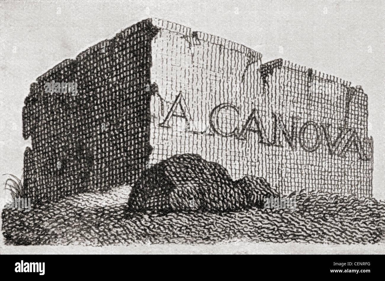 La Carte De Visite DAntonio Canova Representant Un Immense Bloc Marbre Antonio 1757